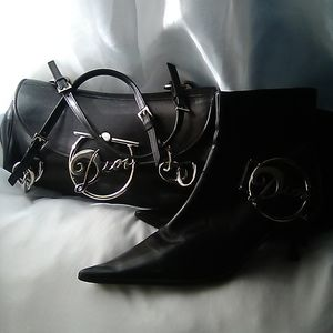 Dior tote and matching ankle boots (Rare set)
